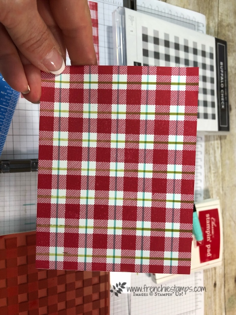 Learn tips for the Buffalo Check back ground stamp. Also these tip apply for all big background stamps.  All products by Stampin'Up! available at frenchiestamps.com