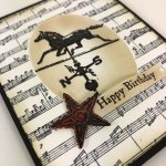 How to make a faux illusion. One layer that look like 2 layer of card stock. How to video with Frenchie. Stamp set Country Road and Sheet Music. All product by Stampin