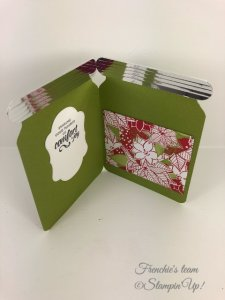 Chrstimas Gift Card holder. All design by Frenchie team. All pruduct by Stampin'Up! and can be purchase at frenchiestamps.com
