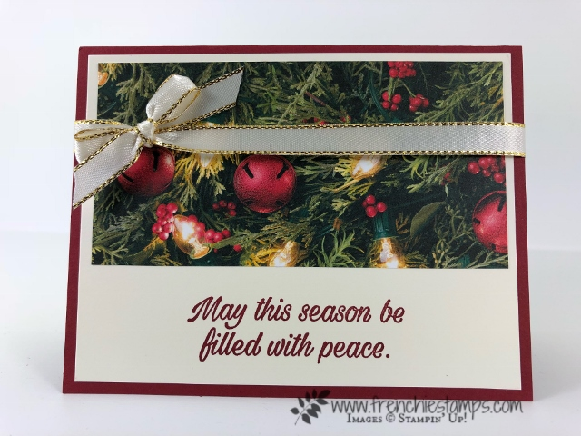 Christmas Swap with the leader group. All cards showcase products from Stampin'Up! Holiday 2018 catalog. All can be purchase at frenchiestamps.com Peaceful Poinsettia