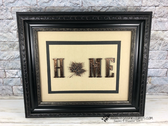 How to make a 4 seasons frame with the changeable center. All product by Stampin'Up! and can be purchase at frenchiestamps.com Large Letter framelite, Snowfall thinlits, Daisy Punch and Seasonal Layers,
