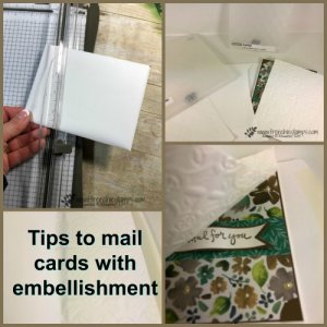 Tips to mail cards with embellishments