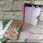 How to cover a junior note pad or a To Do note pad with Designer paper. I used Share What You Love designer paper by Stampin