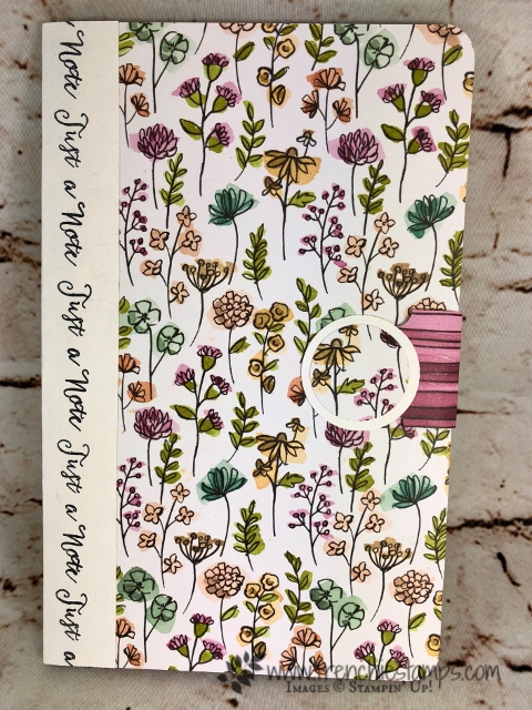 How to cover a junior note pad or a To Do  note pad with Designer paper. I used Share What You Love designer paper by Stampin'Up! and can be purchase at frenchiestamps.com