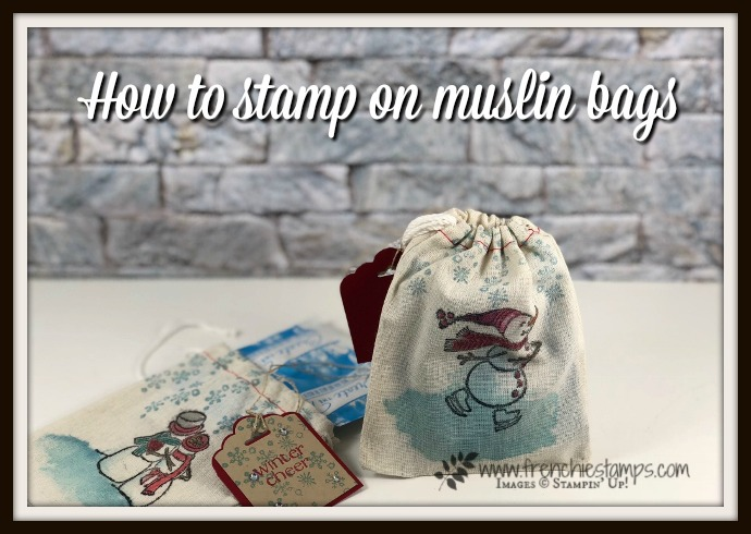 How to stamp on muslin bags