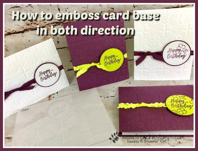 How To Emboss Card Base In Both Direction