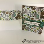Learn a simple way to add designer paper to the flap of the envelope. Quick and no need of die. How to with frenchiestamps.com For this one I used Frosted Floral Designer paper.