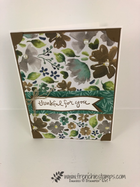 Learn a simple way to add designer paper to the flap of the envelope. Quick and no need of die. How to with frenchiestamps.com