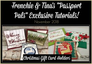 Customer Appreciation with the Passport Pals. All about gift card. All product by Stampin'Up!  frenchiestamps.com