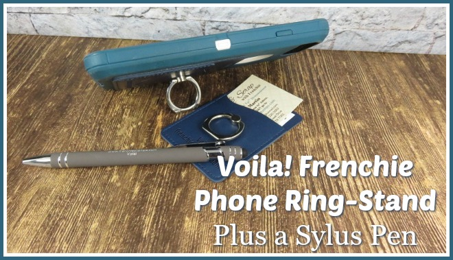 qualified for Frenchie card holder-phone ring plus a stylus pen. Limited time. Visit frenchiestamps.com for all detail.