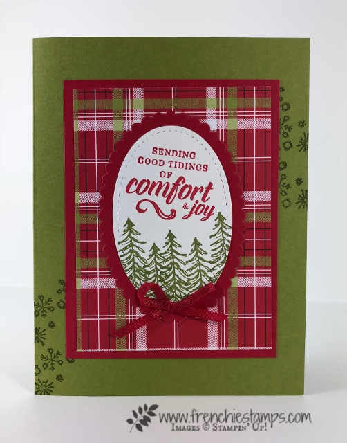 Christmas Swap with the leader group. All cards showcase products from Stampin'Up! Holiday 2018 catalog. All can be purchase at frenchiestamps.com Timeless Tidings