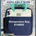 Stamparatus Bag is available NOW. See the inside out in my video. Product by Stampin