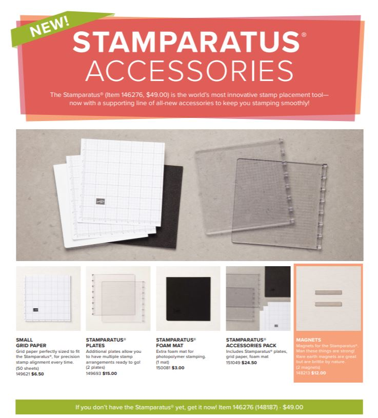 Stamparatus extra accessories is available NOW. Product by Stampin'Up! available at frenchiestamps.com