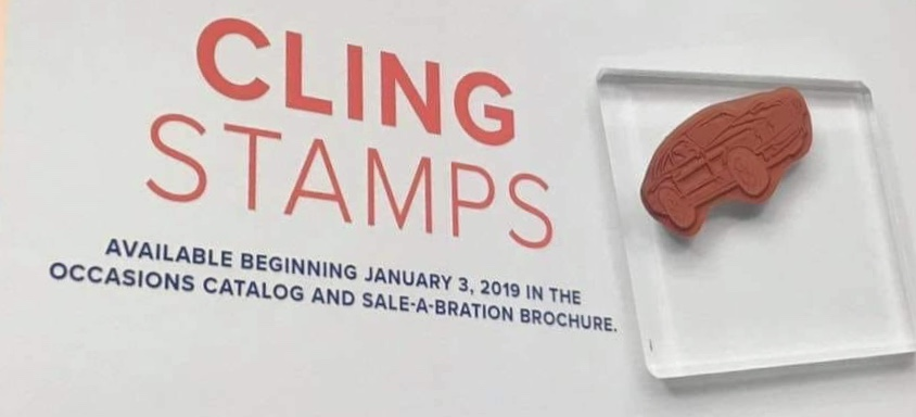 Stampin'Up! releasing Cling Stamps starting January 3, 2019. Get more info at frenchiestamps.com