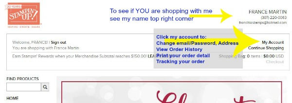 How to track your Stampin'Up! orders