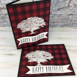 Heat Embossing Overlay Buffalo Check. Stamp set Buffalo Check, Rooted in Nature, Perennial Birthday. Stamparatus. All products from Stampin