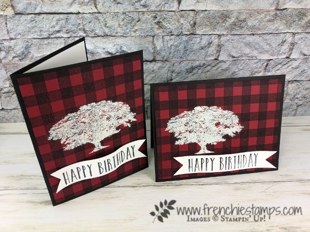 Heat Embossing Overlay Buffalo Check. Stamp set Buffalo Check, Rooted in Nature, Perennial Birthday. Stamparatus. All products from Stampin'Up! available at frenchiestamps.com