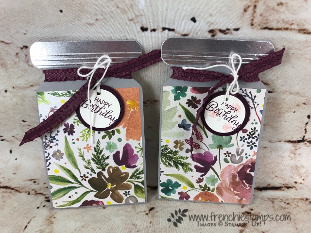 Using the envelope punch board for a Slim Jar Card. With or without gift card holder. Video on how to make it at frenchiestamps.com All product from Stampin'Up! available at frenchiestamps.com #envelopepunchboard #stampin'up! #frenchiestamps