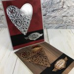 Geared Up Garage for Valentine. Meat to be bundle, embossing mats. All products by Stampin