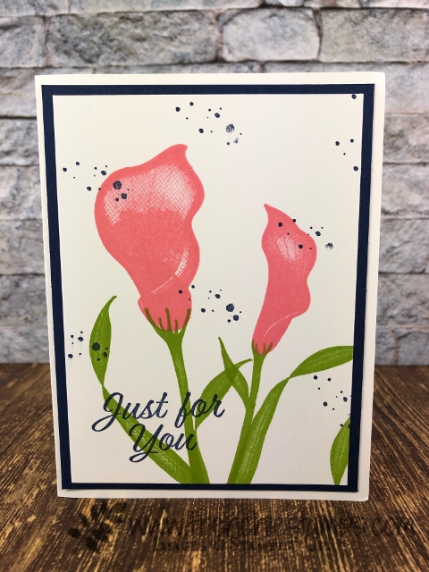Tip to have a perfect stamp lily from the stamp set Lasting Lily. This set can be your for free with qualified order during Sale a Bration. Stampin'Up! promotion available at frenchiestamps.