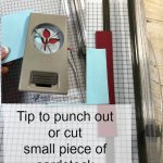 Tip on how to cut or punch out small piece of cardstock. #frenchiestamps #stampinup #tipforpapercrafter