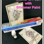 Technique Vintage Mother of Pearl. Using Glossy paper and Shimmer paint. All detail on my blog with video. Product by Stampin