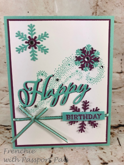 Birthday Card, Perennial Birthday, Star of Light and Christmas Thinlits Die. All product by stampin' up available at frenchiestamps.com