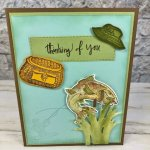 Best Catch for masculine card. Greeting from Climbing Orchid. The stitched Rectangle framelits are great for the long greeting. All product by Stampin