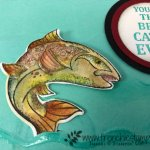 How to watercolor the fish in Best Catch. Look like a trout. All product by Stampin