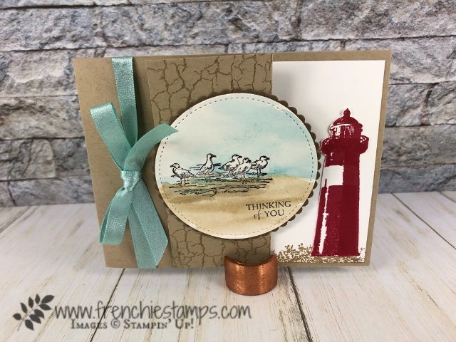 Passport Pals customer appreciation. Stamp sets By the Bay, High Tide. All Stampin'Up! products available at frenchiestamps.com