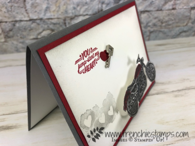 Wobble Mini Spring. Classic Garage Designer paper. Masculine valentines card.
