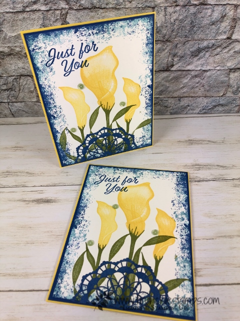 Simple frame with the Timeless Texture around the Lasting Lily stamp set. Lasting Lily is a sale a bration set can be your for free with qualified order.  All product all from Stampin'Up! available at Frenchiestamps.com