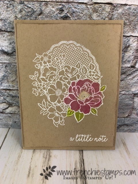 Lovely Lattice simple and detail. This set is part of Stampin'Up! Sale a Bration can be yours for free with qualified order at frenchiestamps.com