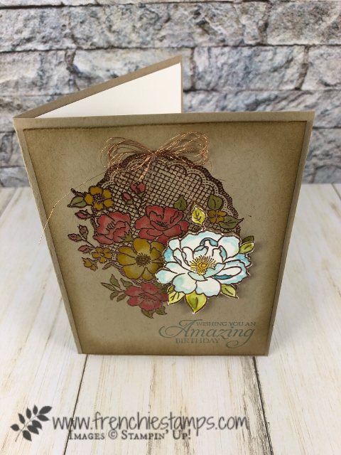 Lovely Lattice and Happy Tail live class with Holly and Frenchie. All product are by Stampin'Up! available at frenchiestamps.com