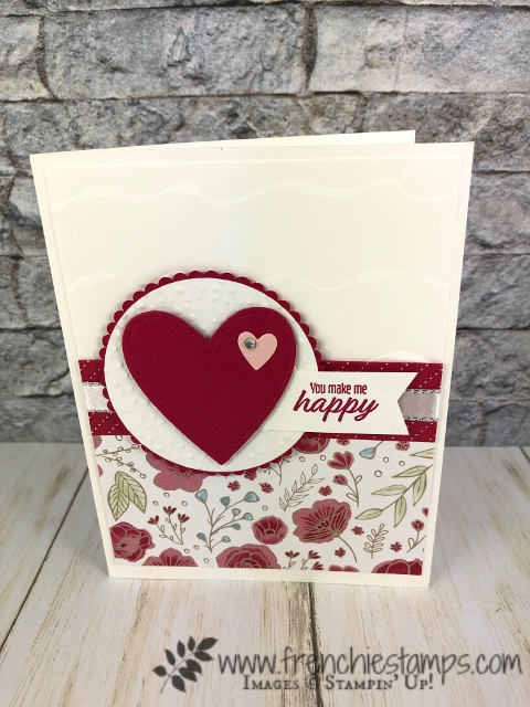 Meant to Be bundle, Be Mine Stitched Framelits. Not only for valentines. Products by Stampin'Up! available at frenchiestamps.com