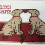 How to have a perfect mirror image with punch out image. Simple way with the negative, silicone mat and the Stamparatus. Happy Tail and the Dog Builder punch all products by Stampin
