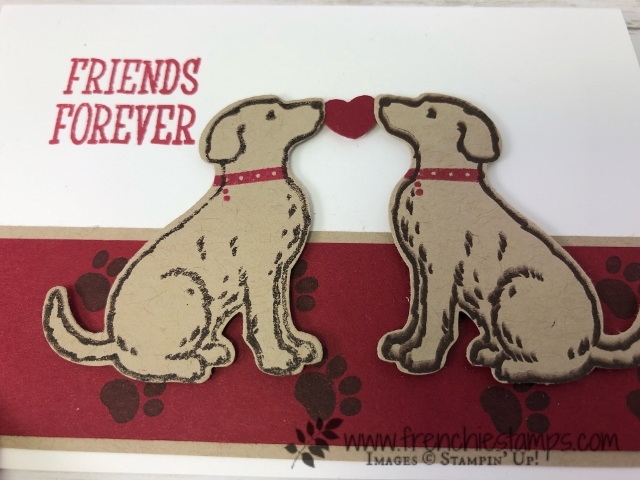 How to have a perfect mirror image with punch out image. Simple way with the negative, silicone mat and the Stamparatus. Happy Tail and the Dog Builder punch all products by Stampin'Up! available at frenchiestamps.com It make a sweet valentine card with 2 dog facing each other.