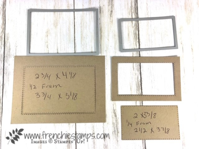 Simple frame with the Stitched Rectangle framelits. Size to do the inside frame. Framelits by Stampin'Up! available at frenchiestamp.com