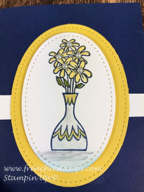 Simple card using the Happiness Blooms Memories Card and envelop and Vibrant Vases stamp set. Free Download at fenchiestamps.com All supplies by Stampin'Up! available at frenchie to purchase.