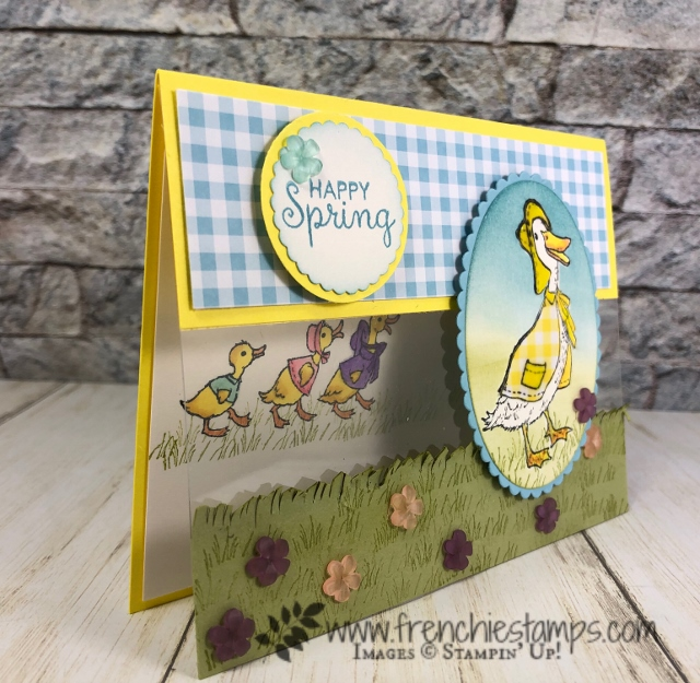 Fable Friends stamp set and a fun Rain poncho. All detail is part of this month customer appreciation with Frenchie Stamps. All product by Stampin'Up! available at frenchiestamps.com
