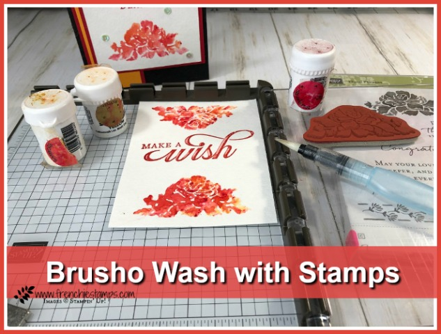 Brusho Wash with Stamps