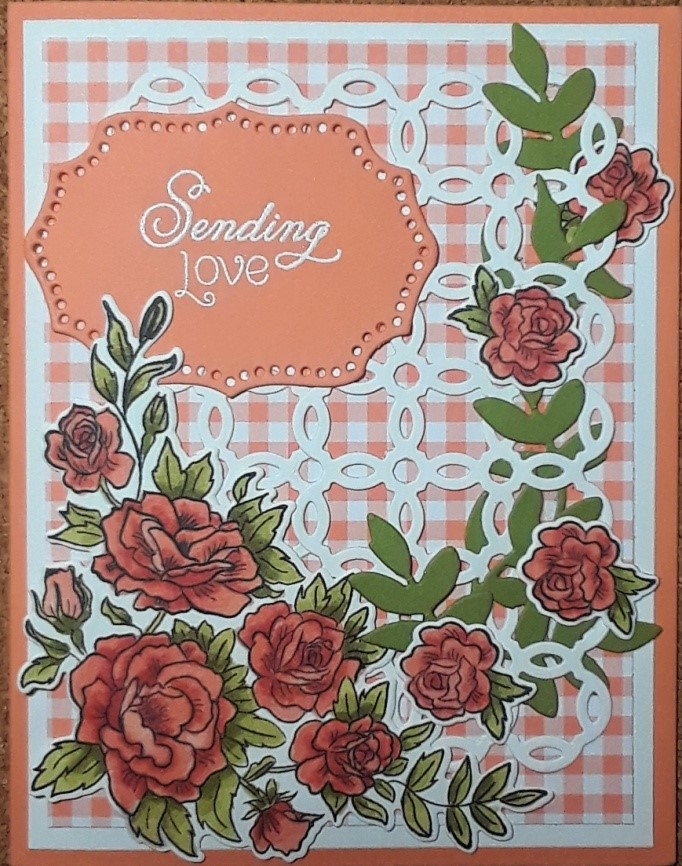 Climbing Roses and Rose Trellis thinlits. Product by Stampin'Up! available at frenchiestamps.com