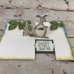 Animal Outing on the Impossible Card but I do it the easy way. Die Cut Mirror Image. All Product from Stampin