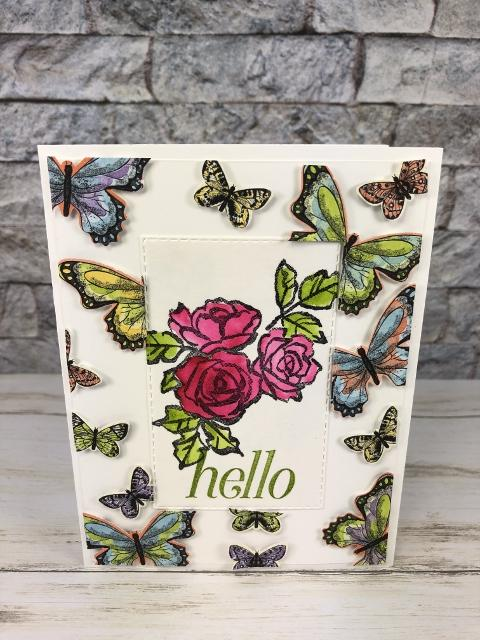 Floating Frame with the Botanical Butterfly. All product by stampin' Up available at frenchiestamps.com