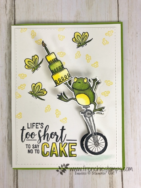 How to make a wobble card using the Hop Around Framelits and So Hoppy Together. Also I used the Amazing Life stamp set. Product by stampin'Up! available at frenchiestamps.com