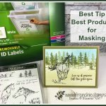 Best tip and best product for masking. This will save you time and frustration when it come masking. Stamp set used to demo this tip is Let it Ride by Stampin