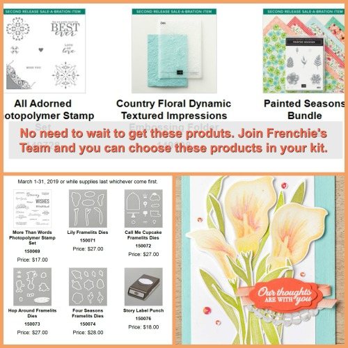 Sale a Bration Coordination Products, Framelits, Punch and