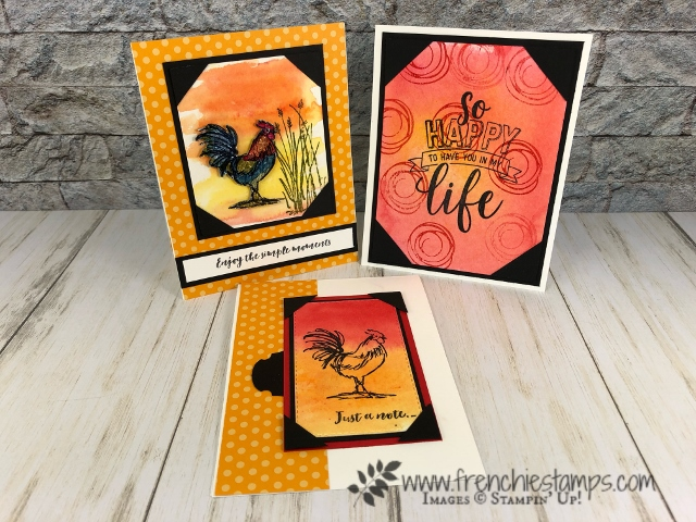 Corner Pocket and background Brusho. stamp set Home to Roost and Amazing Life. All product by Stampin'Up available at frenchiestamps.com