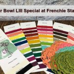 Frenchie Super Bowl LIII Special. Get a FREE color Swatches and Doilies with qualified order. Stampin
