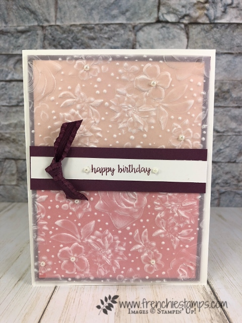 Country Floral Embossing Folder with vellum. All product by Stampin'Up! available at frenchiestamps.com
